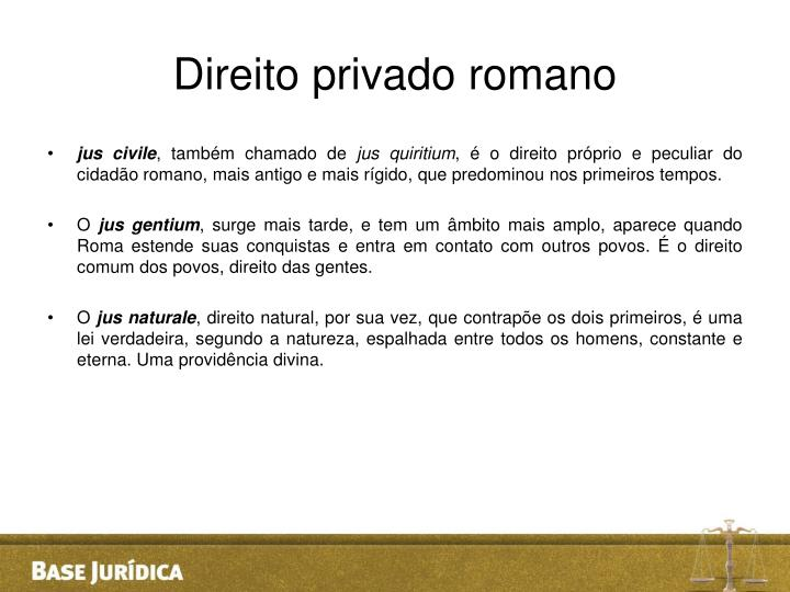 Direito privado romano