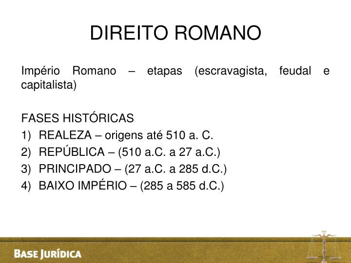 DIREITO ROMANO