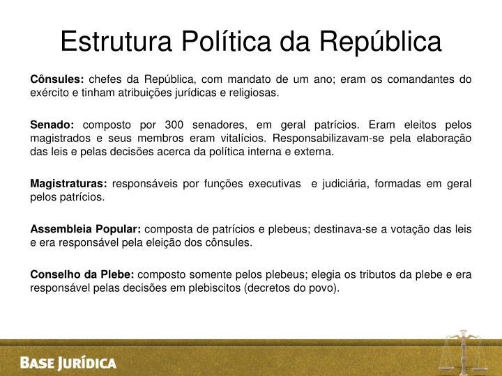 Estrutura Política da República