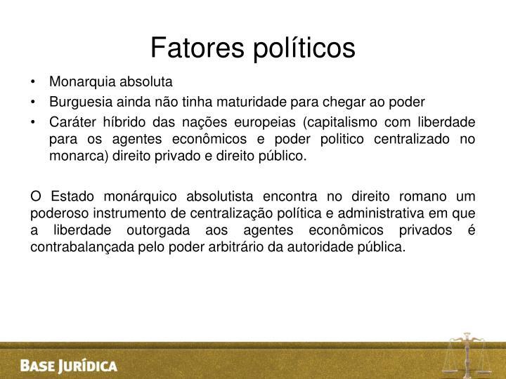 Fatores políticos