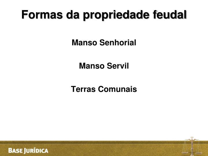 Formas da propriedade feudal