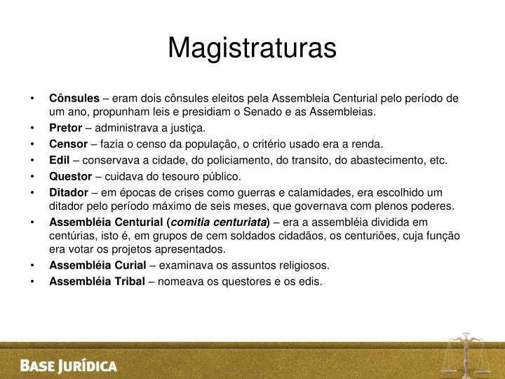 Magistraturas