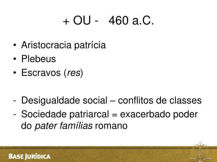 + OU -   460 a.C.