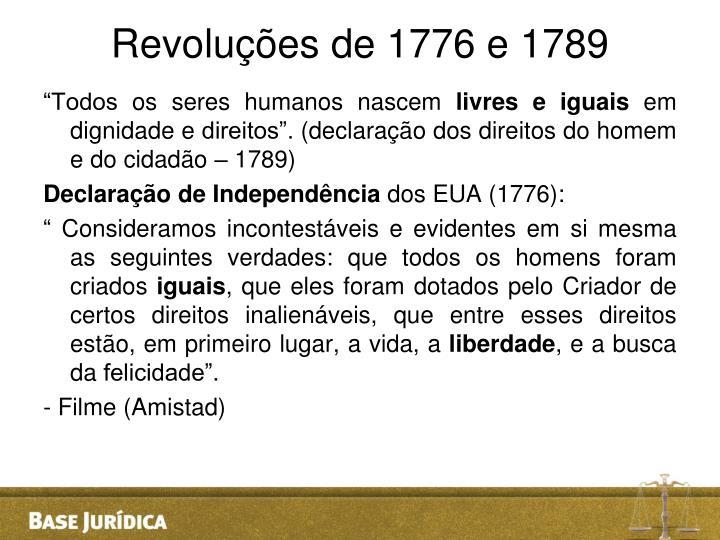 Revoluções de 1776 e 1789
