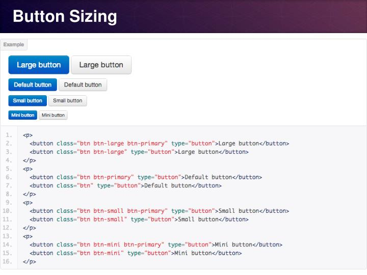 Button Sizing