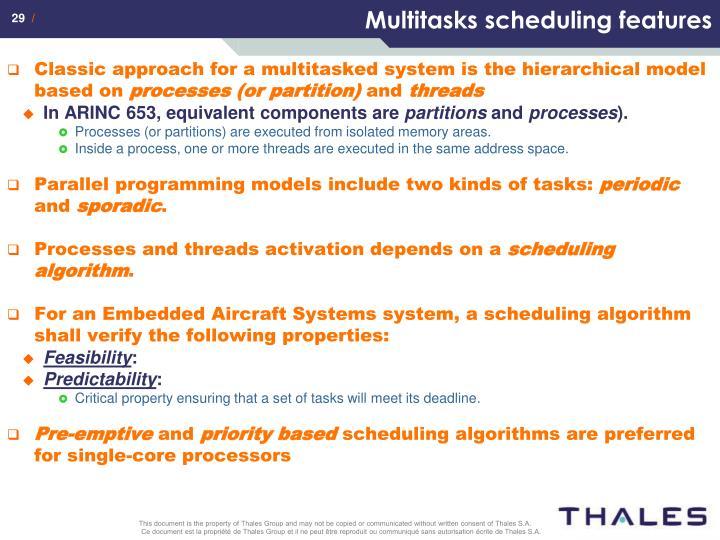 Multitasks scheduling