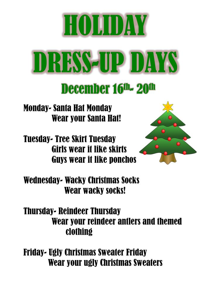 Ppt Holiday Dress Up Days Powerpoint Presentation Free
