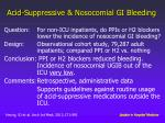 acid suppressive nosocomial gi bleeding