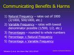 communicating benefits harms1