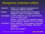 management clostridium d ifficile1