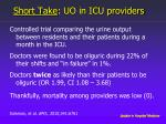 short take uo in icu providers