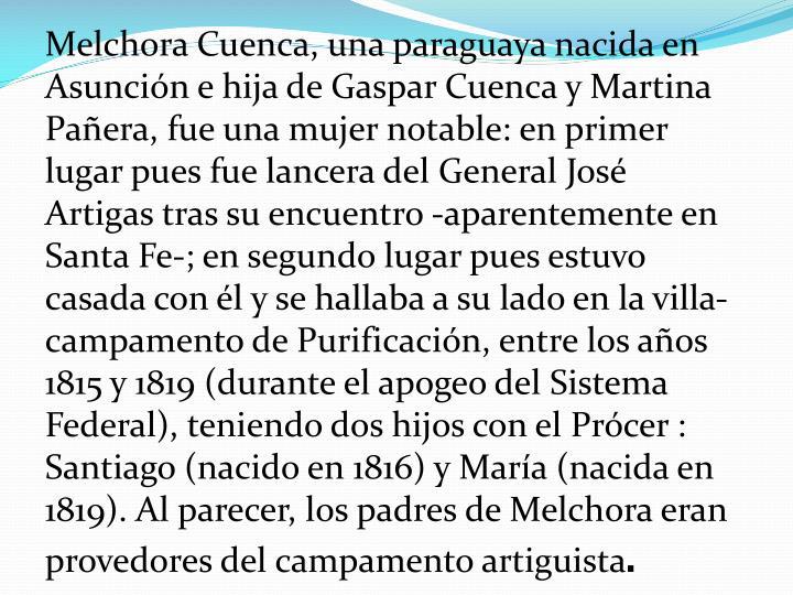 Melchora Cuenca, una paraguaya