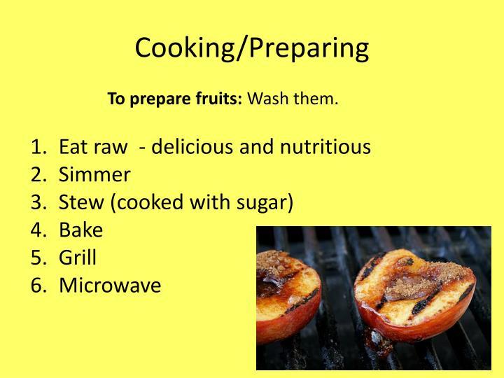 Cooking/Preparing