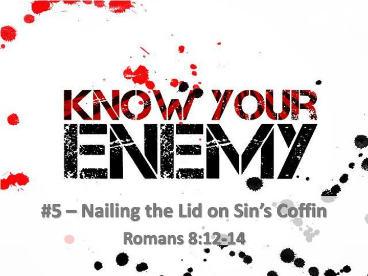 5 nailing the lid on sin s coffin romans 8 12 14