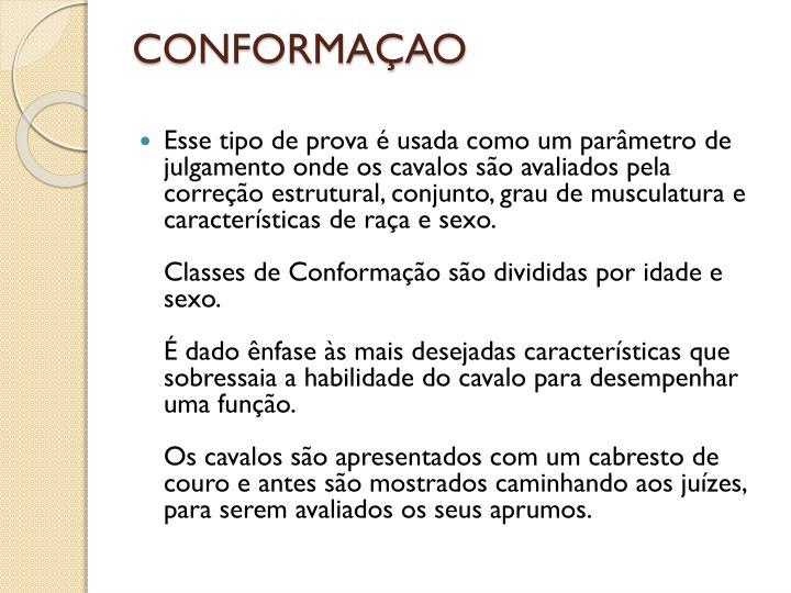 CONFORMAÇAO
