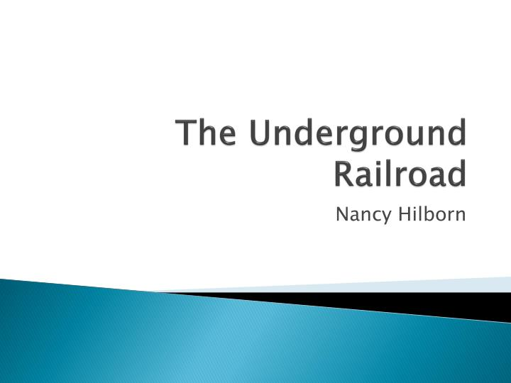 an essay on the underground railroad Free essay: the underground railroad was neither underground, nor a railroad thus, the underground railway began to form  after the war of 1812, black soldiers came home to the south with stories of non- existent slavery in the north, so people began to hope for freedom.