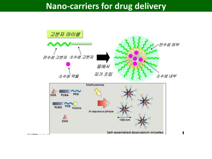 Nano-carriers for drug delivery