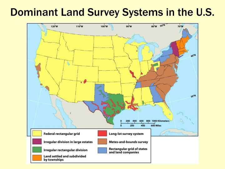 Dominant Land Survey Systems in the U.S.