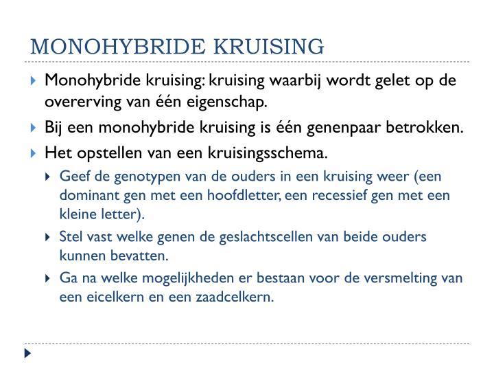 monohybride