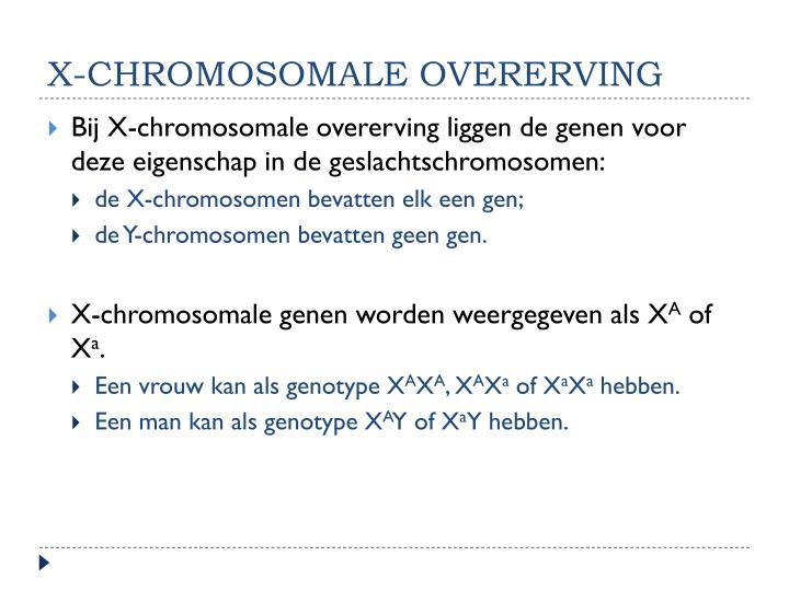 X-chromosomale