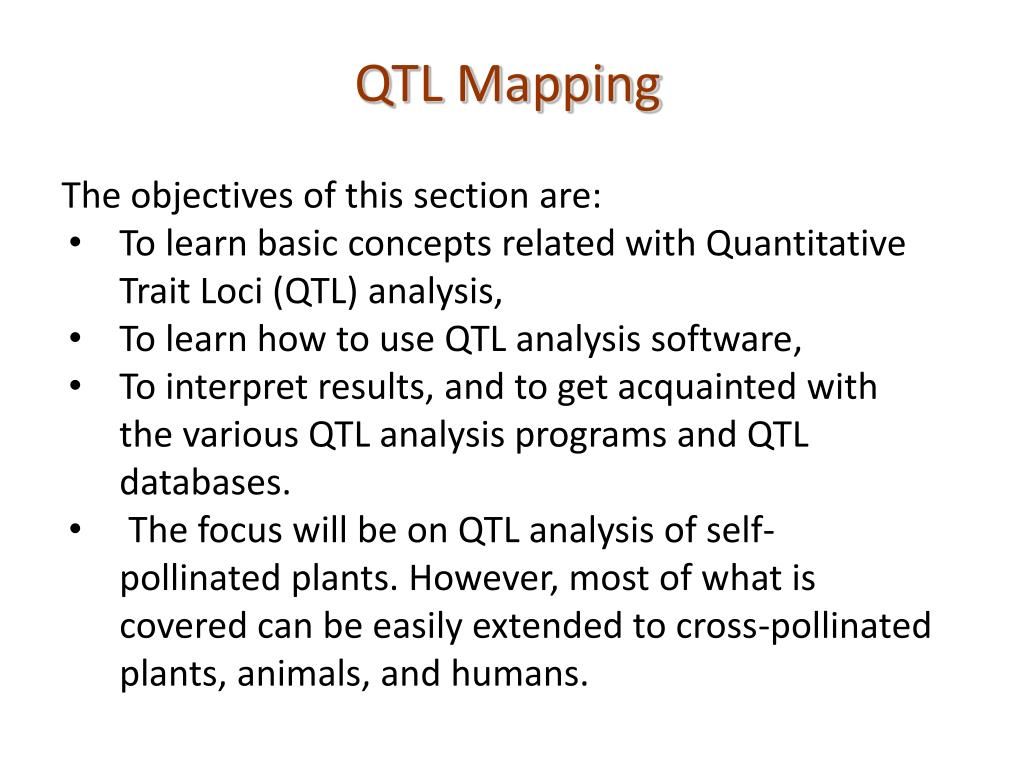 ppt qtl mapping powerpoint presentation id 1917240