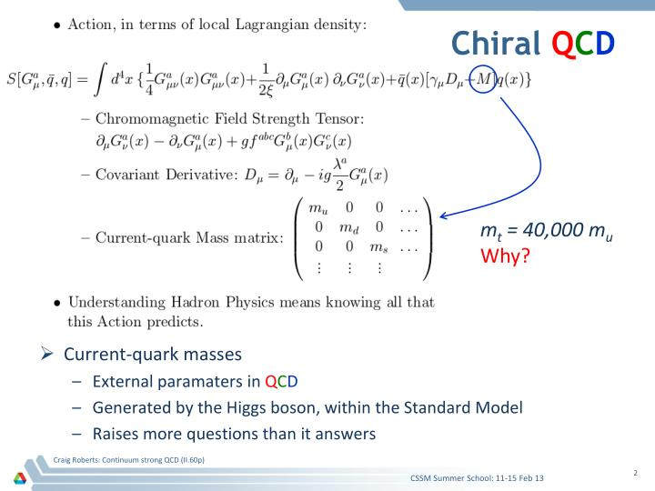 Chiral q c d