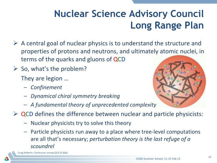 Nuclear Science Advisory Council