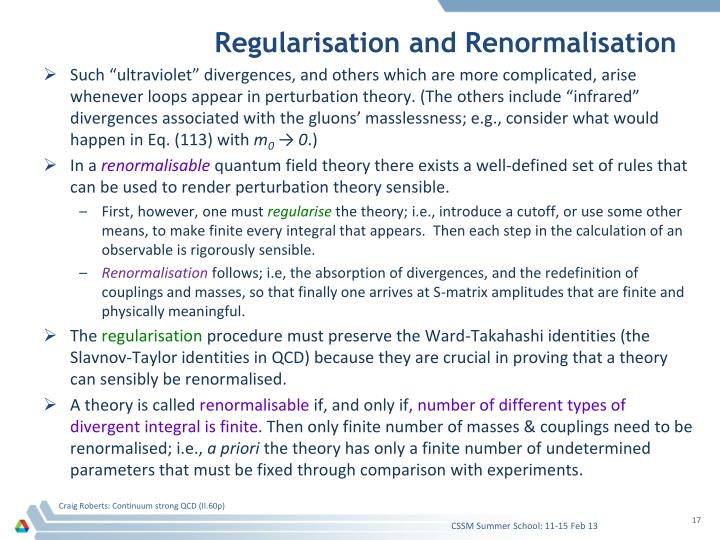 Regularisation