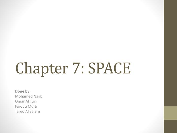 chapter 7 space n.