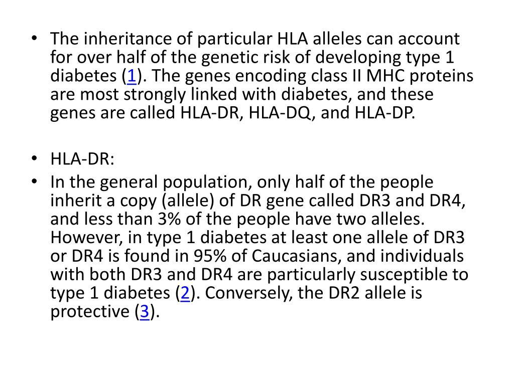 diabetes hla-dr4 hla drb1 gen