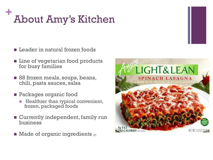 Amy S Kitchen Revenue