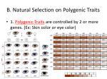 b natural selection on polygenic traits