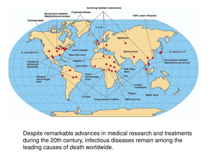 Despite remarkable advances in medical research and treatments during the 20th century, infectious diseases remain among the leading causes of death worldwide.