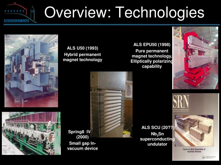 Overview: Technologies