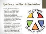 iguales y no discriminatorios