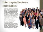 interdependientes e indivisibles