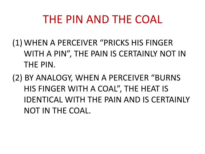 THE PIN AND THE COAL