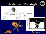 instrument roll angle