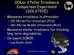 solar stellar irradiance comparison experiment solstice