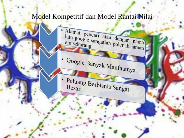 Model kompetitif dan model rantai nilai