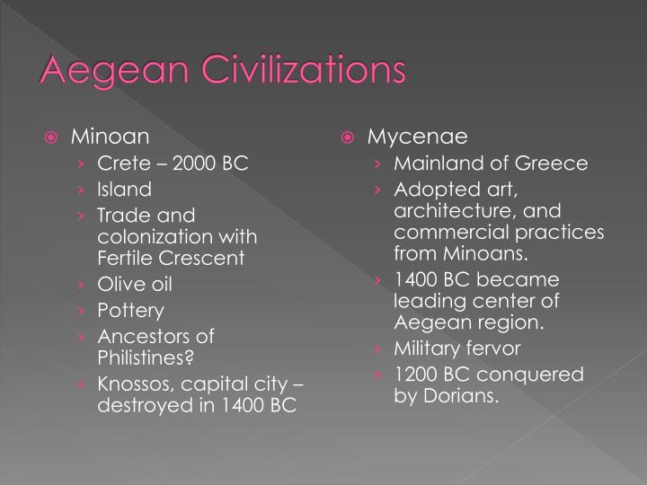 Aegean Civilizations