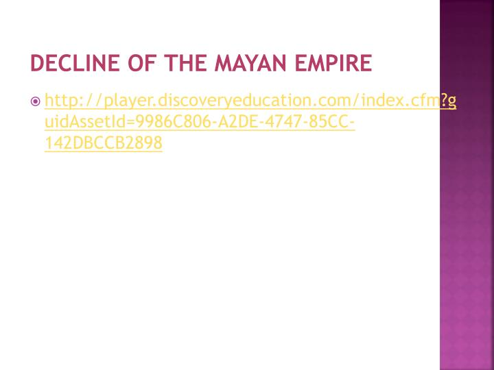 Decline of the Mayan Empire