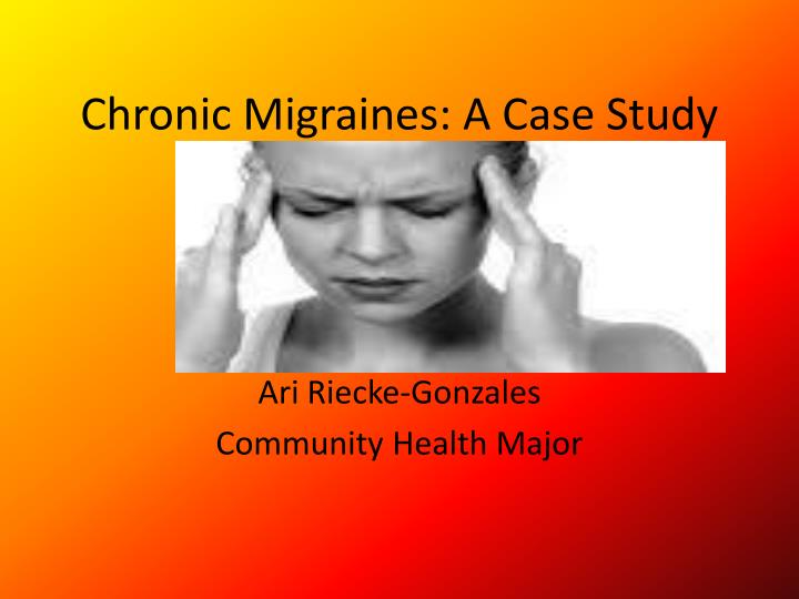 Case Studies in Headache: Cluster Headache - National ...