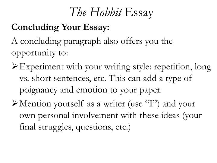 Essay On Bullying The Hobbit Essay Ib Theory Of Knowledge Essay also Essay Online Help Ppt  The Hobbit Essay Powerpoint Presentation  Id Topics For Argument Essays
