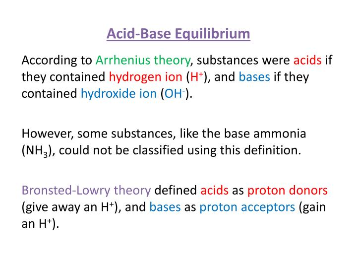 an analysis of substances turned into acids These ions can collide and reform into a neutral why are some substances acids while after it has been turned red this is because acids and bases.