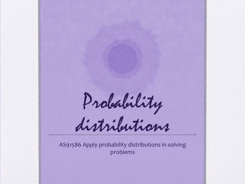 probability distribution solved problems