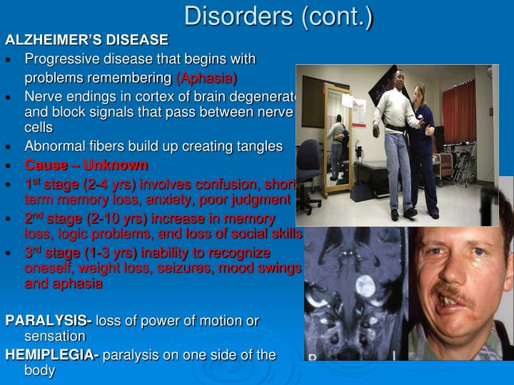 Disorders (cont.)