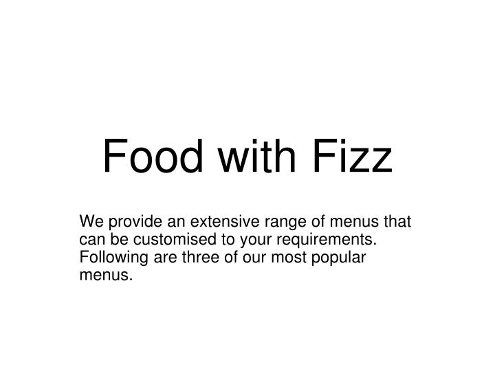 food with fizz n.