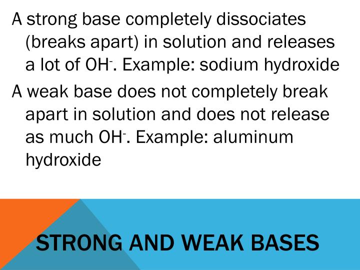 Strong and weak bases