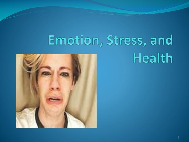 emotion stress and health n.